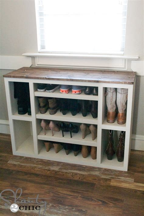 diy shoe shelves diy shoe storage cabinet shanty 2 chic