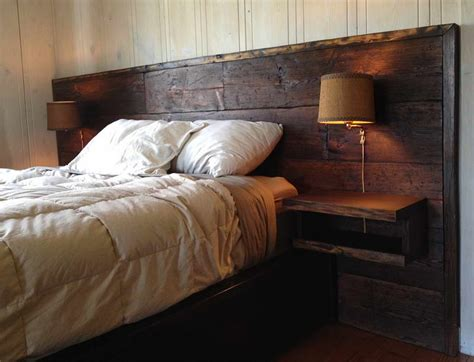 wood queen headboard with reclaimed wood headboard wall l for the home