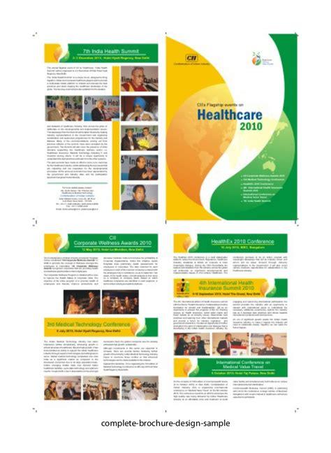 leaflet layout exles complete brochure design sles