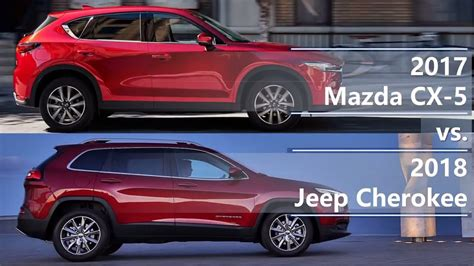 mazda jeep 2015 2017 mazda cx 5 vs 2018 jeep technical