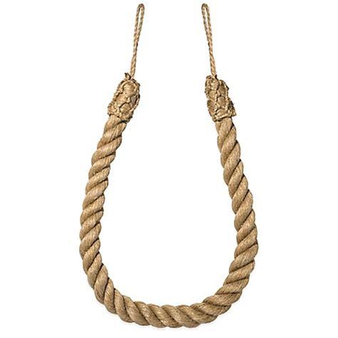 jute curtain tie backs buy jute rope tie back from bed bath beyond