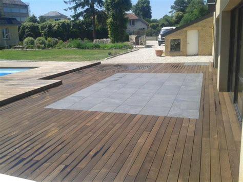 terrasse holzoptik holzterrasse mit stein keramik platten bs holzdesign