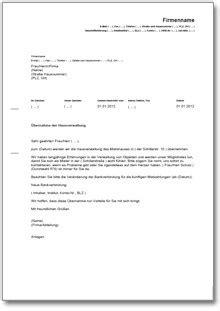 Werbebrief Vorlagen Muster werbebrief f 252 r eine hausverwaltung muster vorlage zum