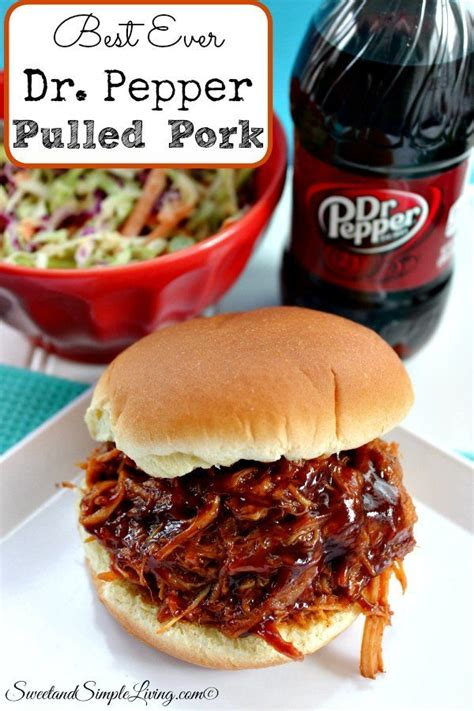best ever dr pepper pulled pork recipe easy and yummy