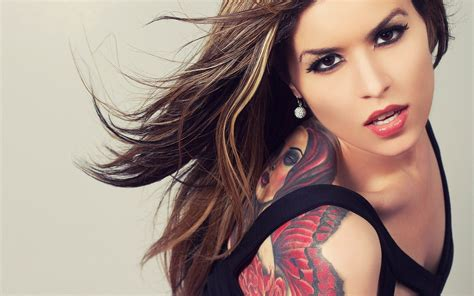 cute tattoo girl wallpaper brunette with tattoo girl wallpapers and images