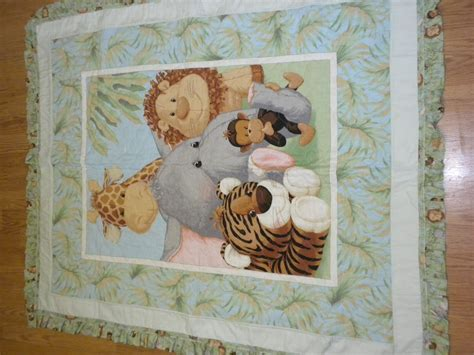 Jungle Baby Quilt by Jungle Animals Baby Quilt