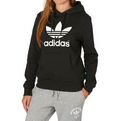 adidas hoodie adidas originals trefoil logo hoody black free delivery options