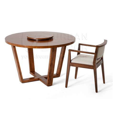 round dining table with armchairs alea round solid wood dining table