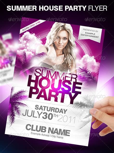 house party flyers design flyer templates 30 premium party advertisement designs designrfix com