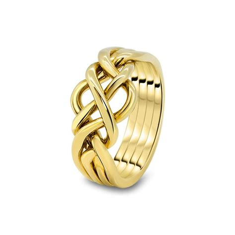 mens gold 4o m puzzle rings creations