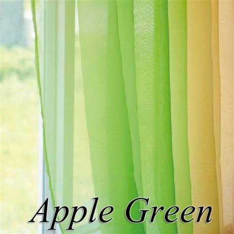 apple green curtains voile sheer curtain panel