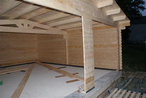 Construction Garage Ossature Bois Toit Plat