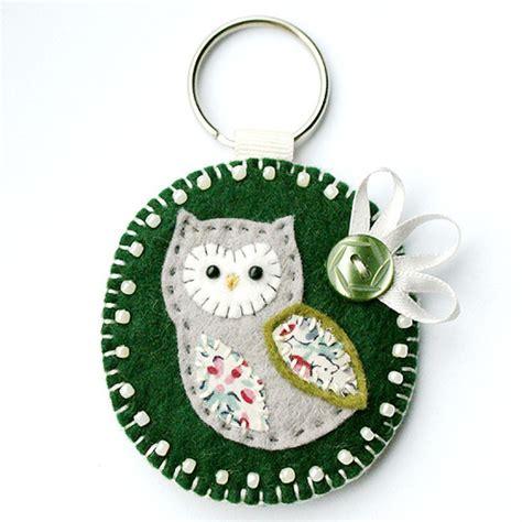 Handmade Fabric Keyrings - folksy buy quot owl keyring quot craftjuice handmade social