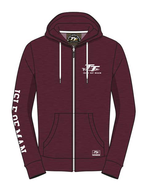 Sweater Hoodies As Roma Maroon tt zip hoodie maroon isle of tt official shop