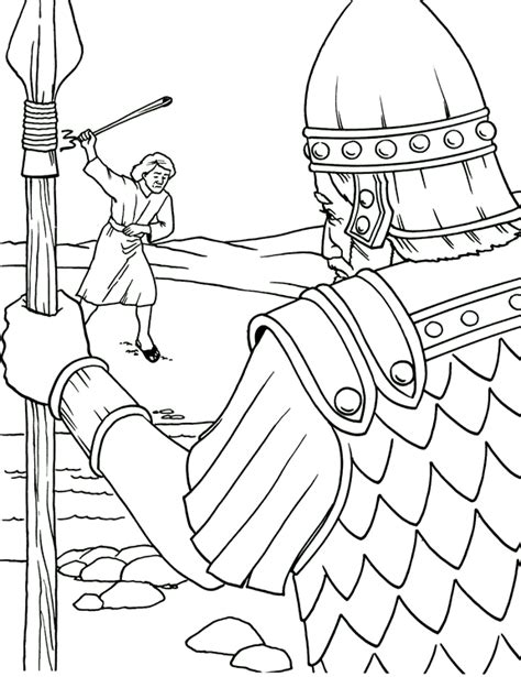 For David And Goliath Coloring Pages Large Coloring Pages David And Goliath Coloring Page