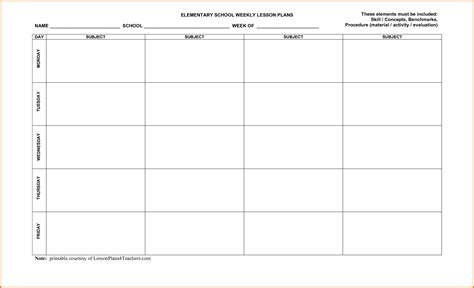 3 weekly lesson plan template wordreference letters words