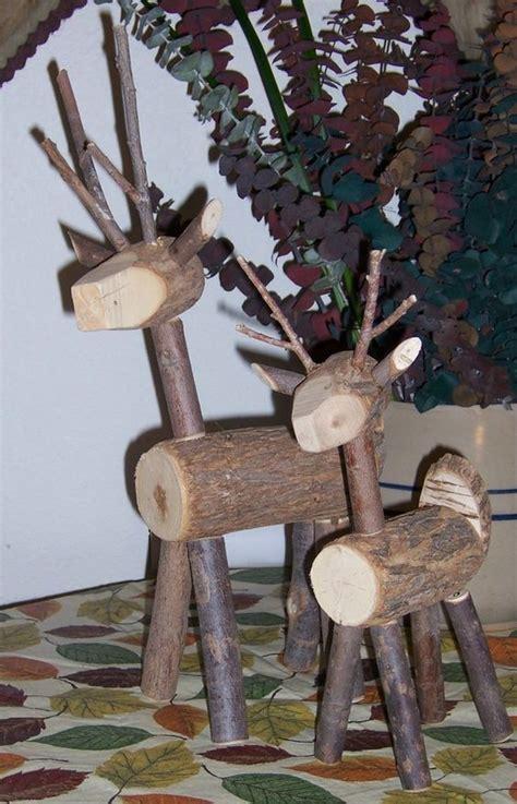 reserved 2 deer set twigs willow 12 18 reindeer