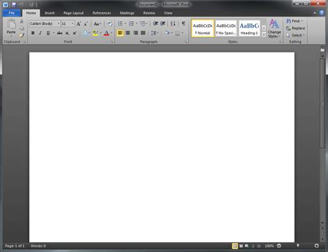 Microsoft Office Word 2010 A Sneak Peak At Office 2010