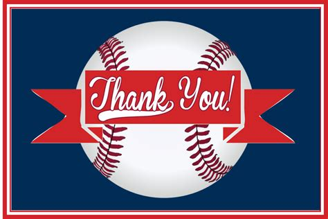 Baseball Thank You Card Template baseball thank you card printable