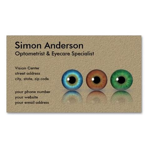 optometry business cards templates free 318 best images about eye doctor business card templates