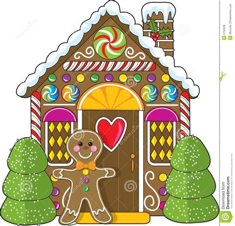 art for house gingerbread house and man stock vector image of cute