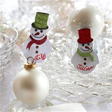 standing snowman christmas card holder deck the s santa hat placecard holder and snowman placecards