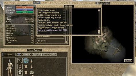 morrowind console commands when play embraces the nihilist the power of console