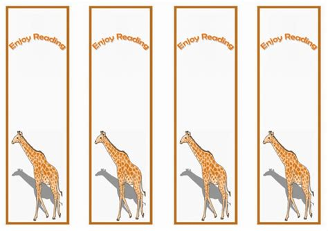 printable giraffe bookmarks giraffe bookmarks birthday printable