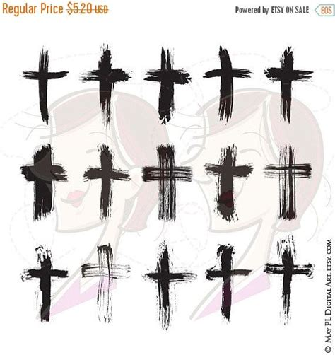 rustic cross tattoos brush christian crosses catholic faith brushstroke