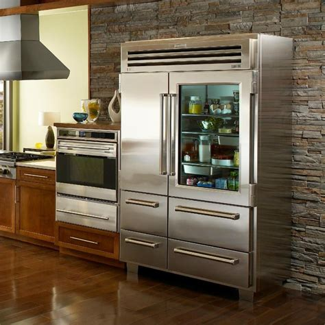 glass door fridge for your kitchen decoration