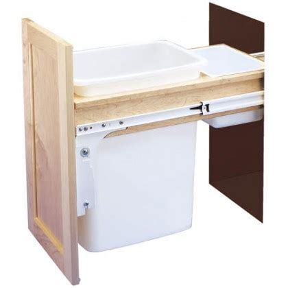 double 35 qt top mount wood pull out trash containers rev 35 qt top mount wood pull out waste container 4wctm