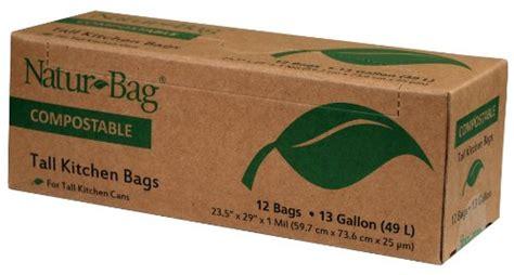 Compost Bag Jumbo natur bag large food waste compostable bags 13 gallon 12 bags compostable plates