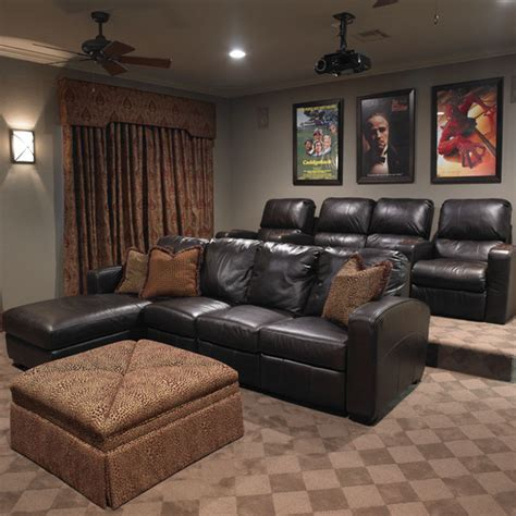 media room couches temple traditional home traditional home theater by hearn interior design