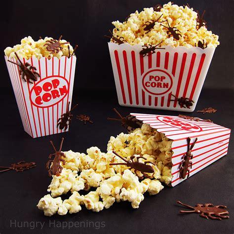 halloween popcorn  chocolate bugs