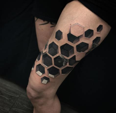3d bee hive best tattoo design ideas