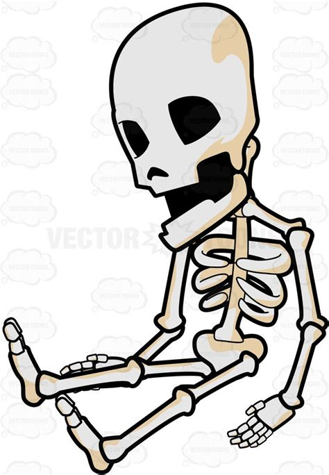 skeleton clipart a sleeping skeleton clipart vector