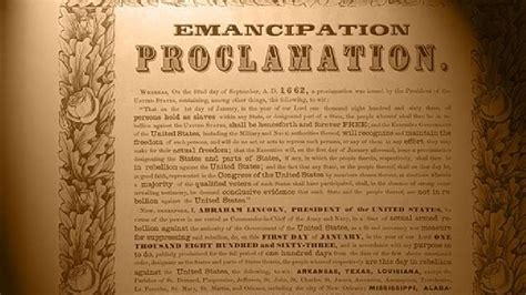 Emancipation Proclamation on display in Nashville | WACH Emancipation Proclamation Actual Document