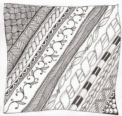 zentangle pattern groovy 17 best images about zen borders frames on pinterest