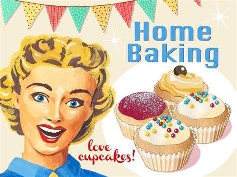 Kitchen Accessories Cupcake Design Home Baking Retro Metal Sign Mid 20th Century Kitchen Decor C