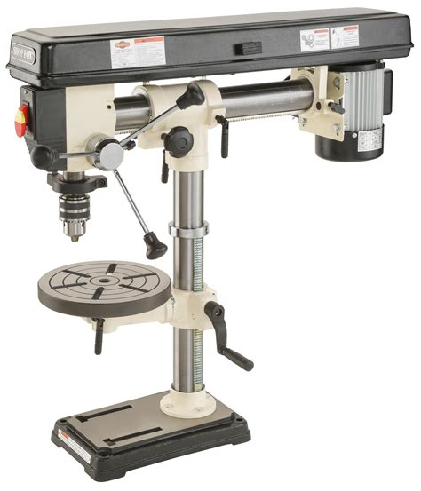 bench drill press review shop fox w1669 1 2 horsepower benchtop radial drill press