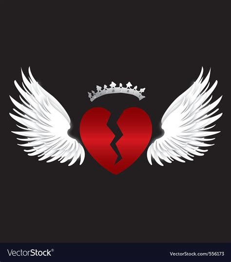 broken hearts with wings www imgkid com the image kid