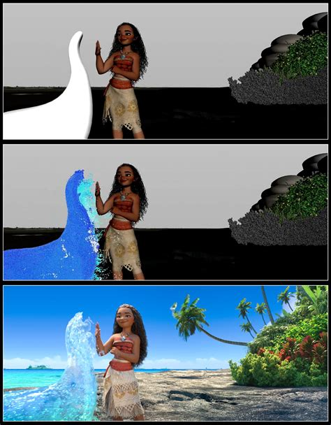 film animation moana moana new images reveal concept art and storyboards