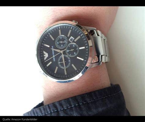 emporio armani ar chronograph aus edelstahl mit
