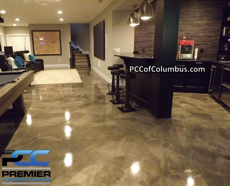 basement flooring options epoxy finish epoxy flooring pcc columbus ohio