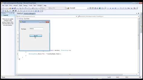 tutorial c windows application c windows programming hello world windows application