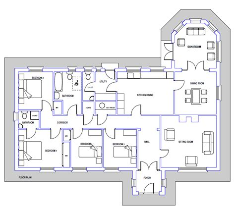 bungalow house plans irish house plan