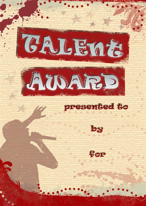 printable talent show certificates pictures to pin on