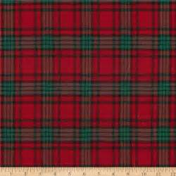 Tartan Material For Upholstery Holiday Blitz Large Plaid Red Green