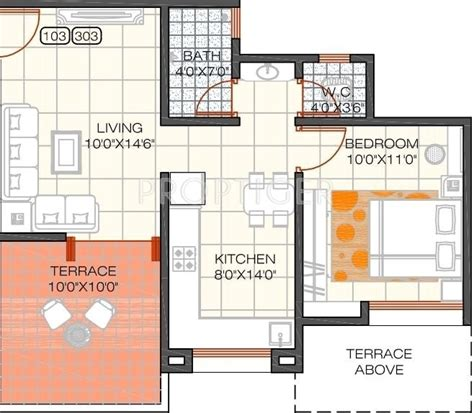 550 sq ft 1 bhk floor plan image dasnac designarch e 550 sq ft 1 bhk 1t apartment for sale in shree devi group