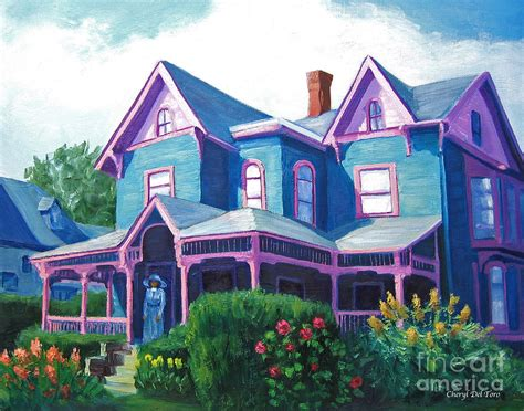 Mil House Plans milliionaire s row blue and pink house painting by cheryl